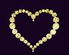 Gold Heart Dance Marker