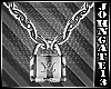 Key Lock Chained Necklac
