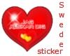 swede Heart sticker