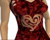 Velvet Heart Dress red