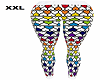 XXL Rainbow Heart Tights