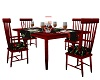 Red Poppy Table-Chairs