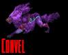 Purple mystic wolf