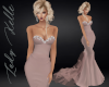 Rose  Strapless Gown