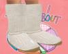 White Crochet Boots :D