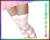 Pink Rose Striped Socks