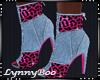 *Kim Pink Leopard Boots
