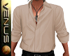 ~V~Beige Open Shirt