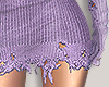 I│Knit Skirt RLL Purp
