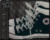 {E} Dirty Blue Converse