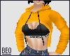 [B] crop cutout hoodie