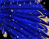 J! Blue gold feathers
