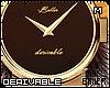 M Chrome Leather Watch