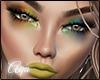 Yellow&blue skin makeup