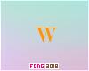 Fo. W Letter Orange