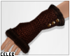 !© Knit Gloves Brown