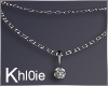 K drop diamond necklace