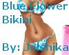 Blue Flowered Bikini