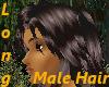 (A) Long Brown Male hair