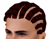 Red Corn Rows Hair