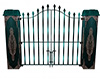 gothic gate, teal
