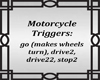 Motorcycle Trigger Sign