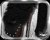 ! Black fur boots