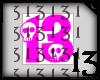 13 Skull Pink Hot No BG