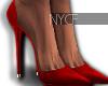 NYCF| Boujie Pumps Red