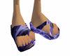 Purple Flame Sandals