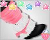 ! Pink Black Fur Boots