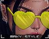 Ms~Yellow heart glasses