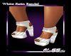 MB White Satin Sandal