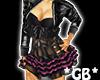 PinkNBlack Ruffle Dress