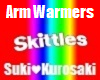 Skittles *M* Arm Warmers