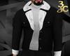 Black/white fur jacket