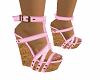 Pink Wedge Heels