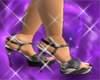 [T] Silver blingy Heels