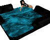 Black and teal hangout
