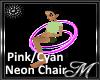 Pink/Cyan Neon Chair