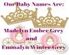 Twin Girls Names Reveal