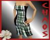 {C}Green Plaid Dress