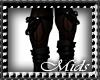 (M) Glitter Leg Bows Blk