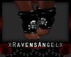 ~RA~Skull Socks Black