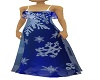 blue snowflake gown