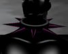 Purple Spiked Collar