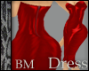 Leather Red Dress BM