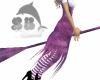 Purple flying broom
