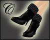 Fur Cuff Stiletto Boots