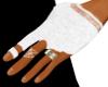 White Biker Gloves (M)